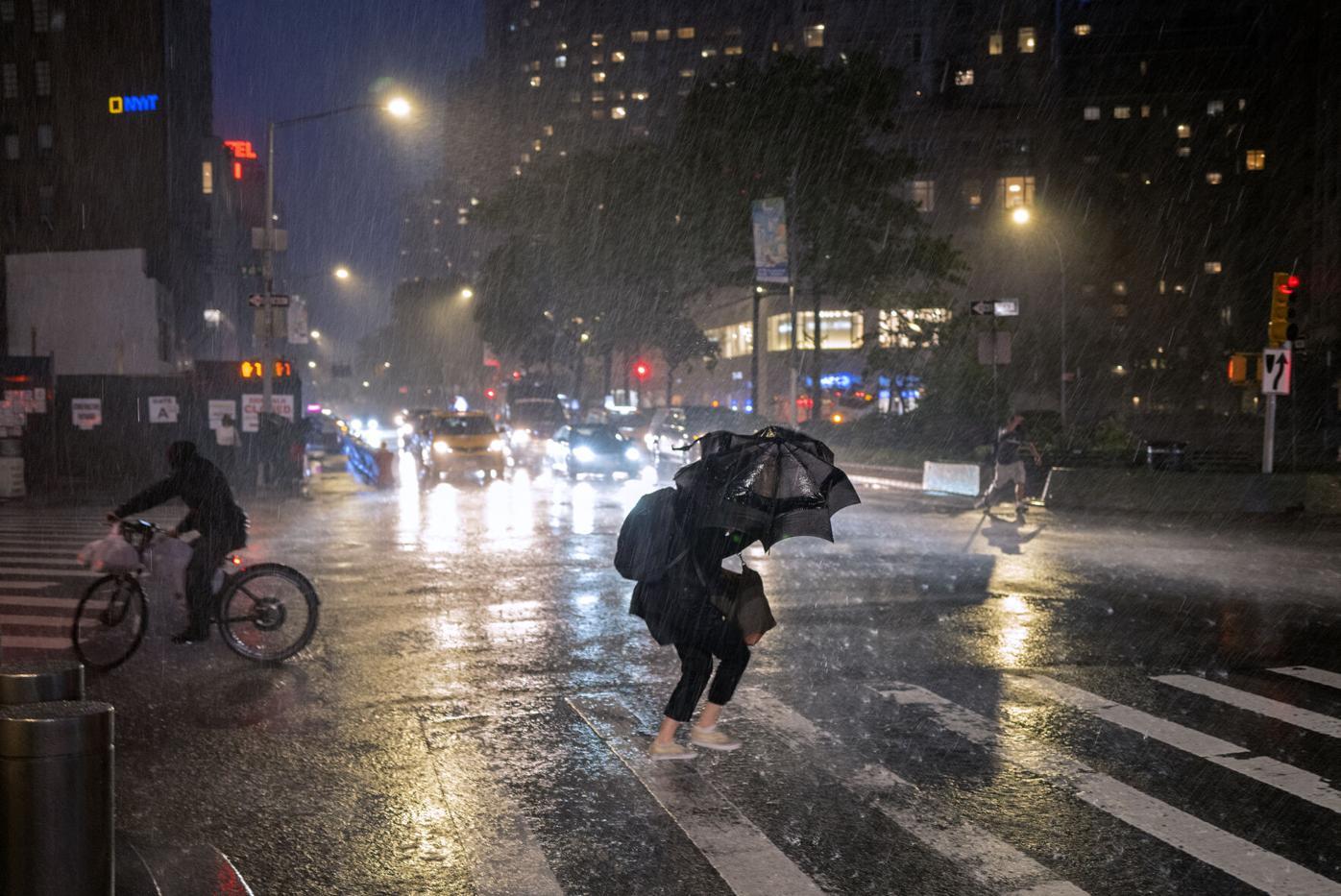 APTOPIX Tropical Weather New York