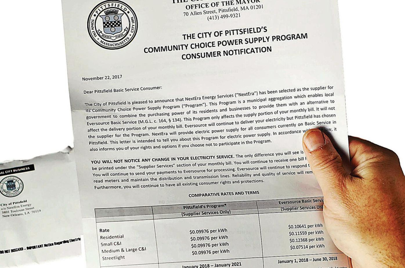 Pittsfield explains new electricity aggregation agreement