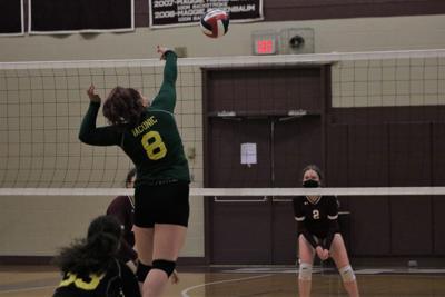 jenna gustafson hits the ball