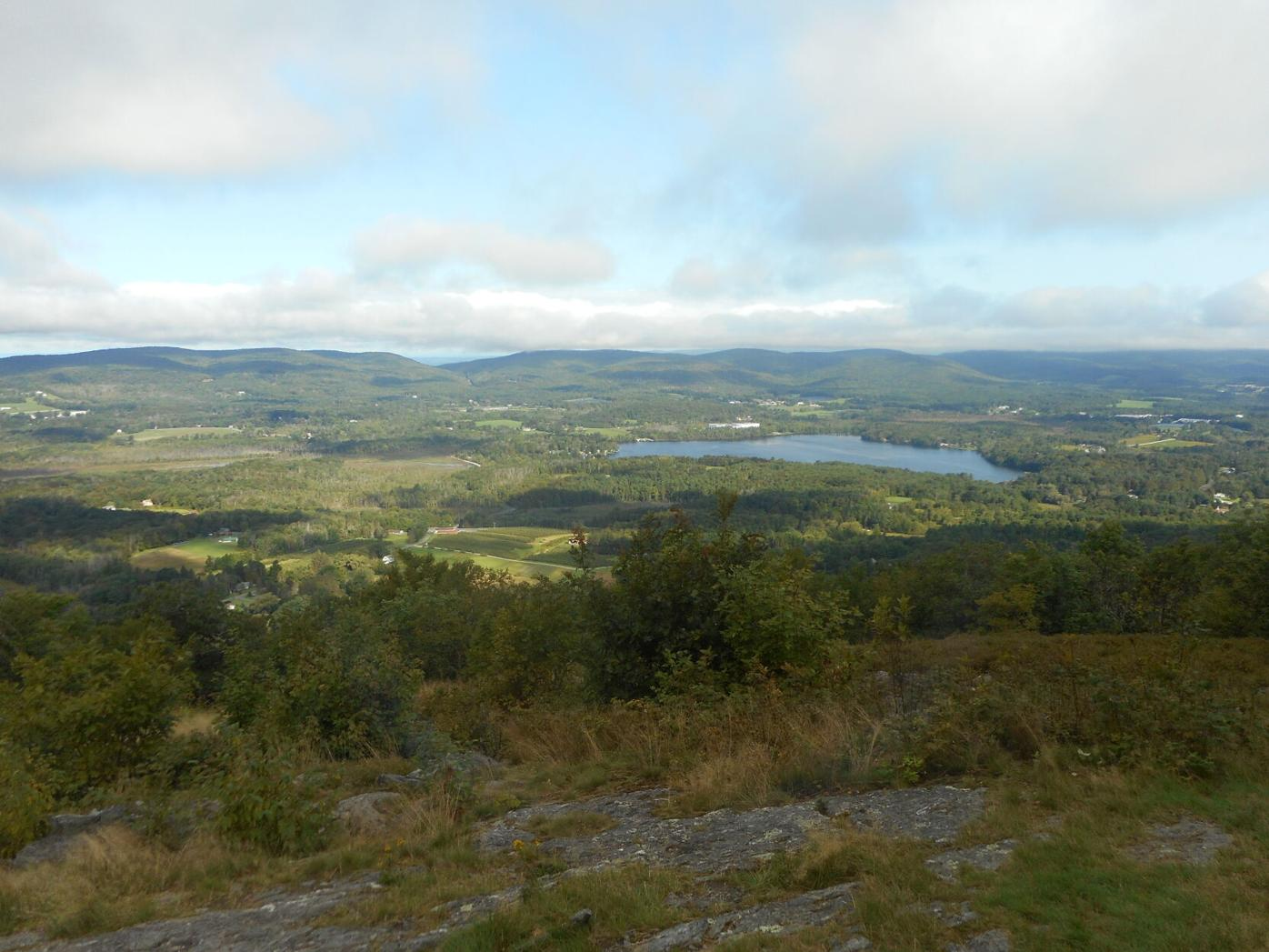 view from Pleasant Valley summit