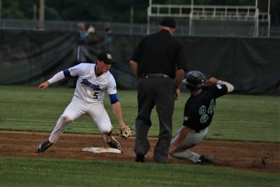 SteepleCats' Mason Hull fielding