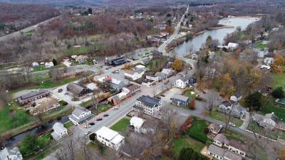 West Stockbridge from the air