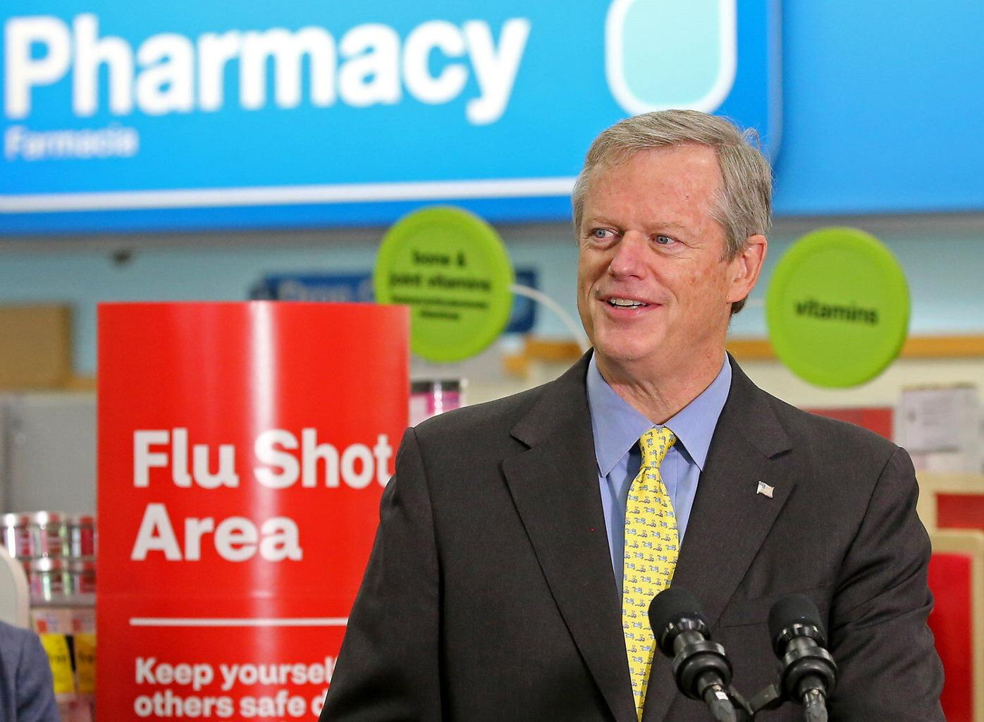 Baker urges flu shots to ease burden on health care heroes