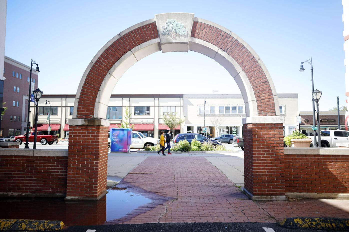 palace park brick arch