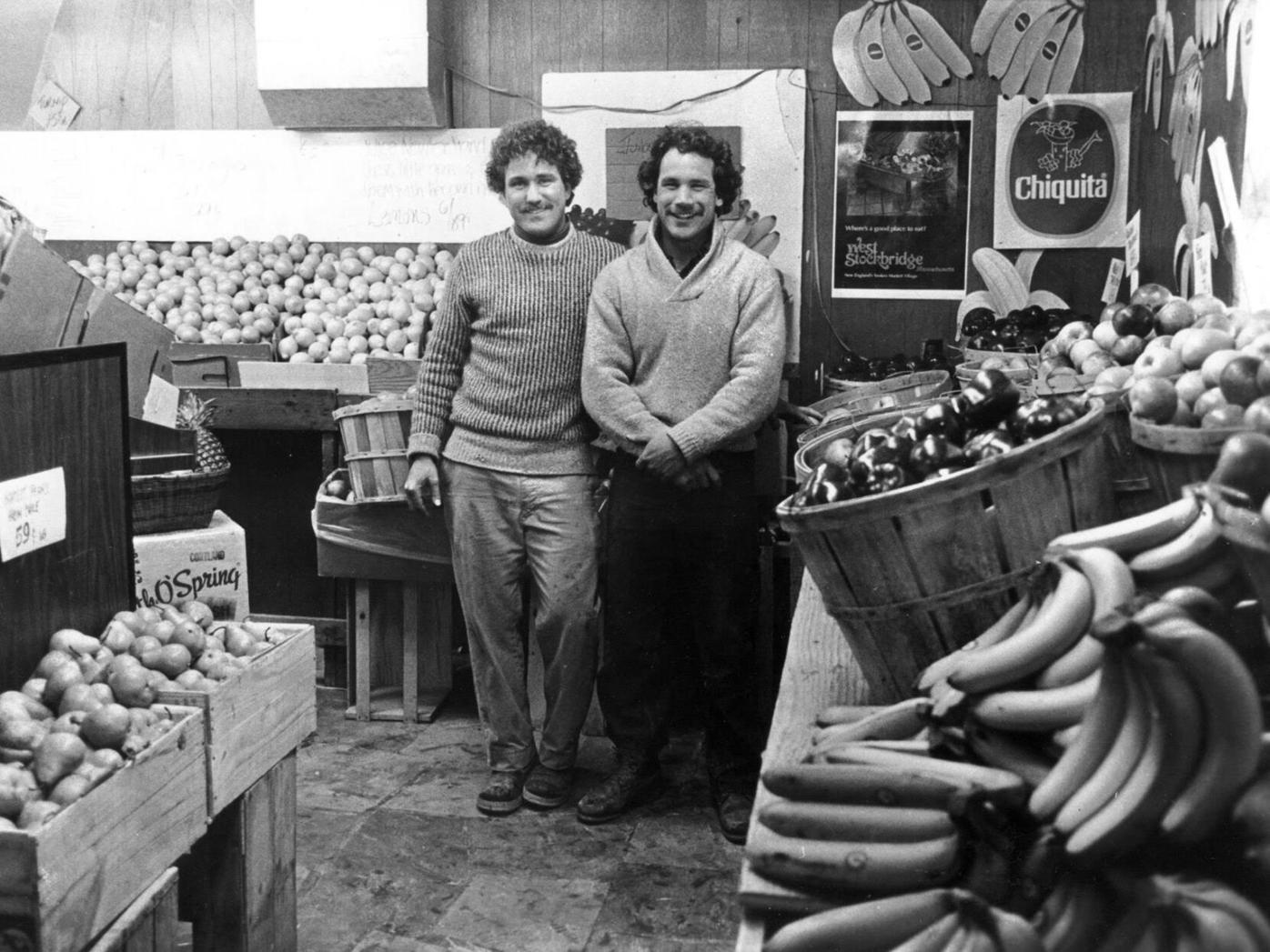 Matt and Chris Masiero in their original produce stand