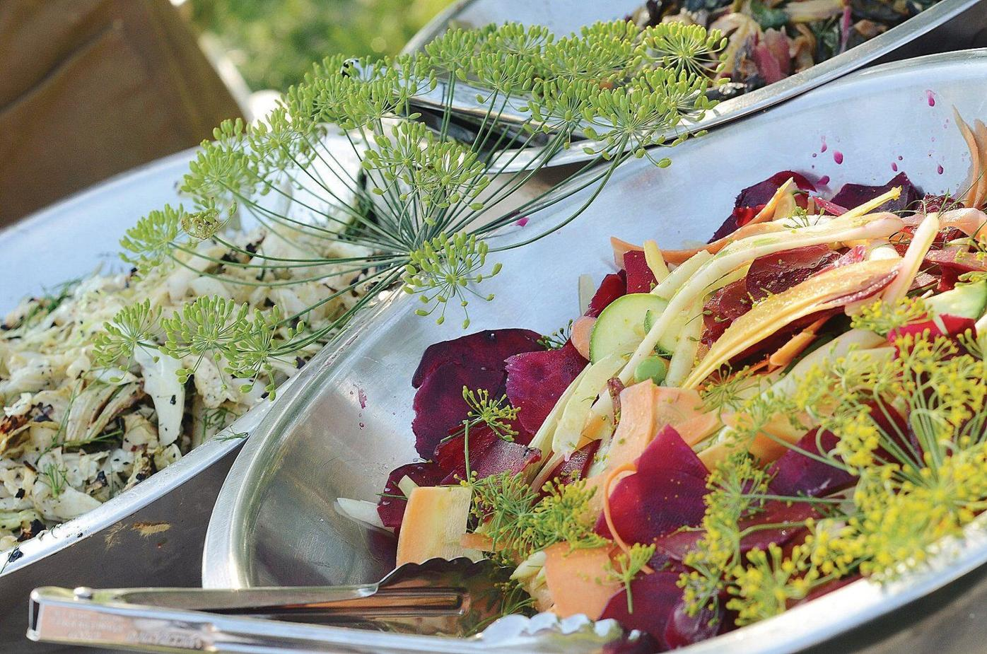 Only a few steps from farm to table at chef Brian Alberg's cooking class