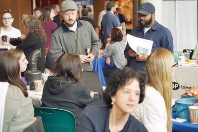 Job seekers look to make good impression at career fair (copy)