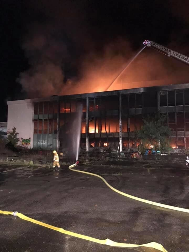 Several departments respond to fire at former Green Mountain Racetrack