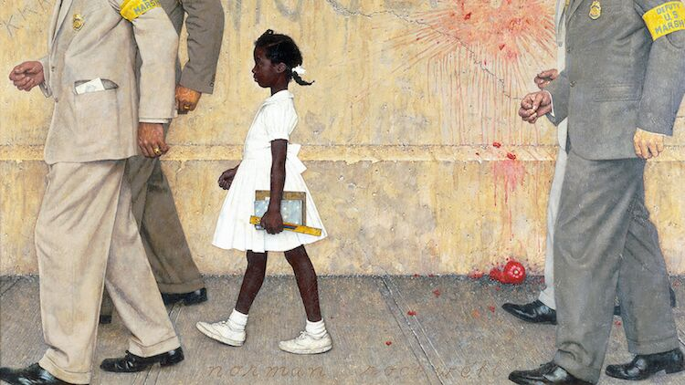 Norman Rockwell painting of Ruby Bridges