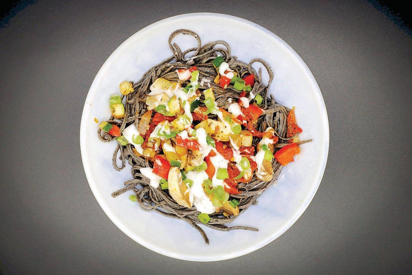 Crossover to the dark side with black bean pasta