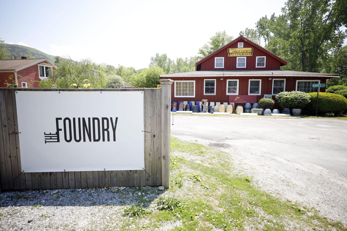 The Foundry sign and Truc Orient Express