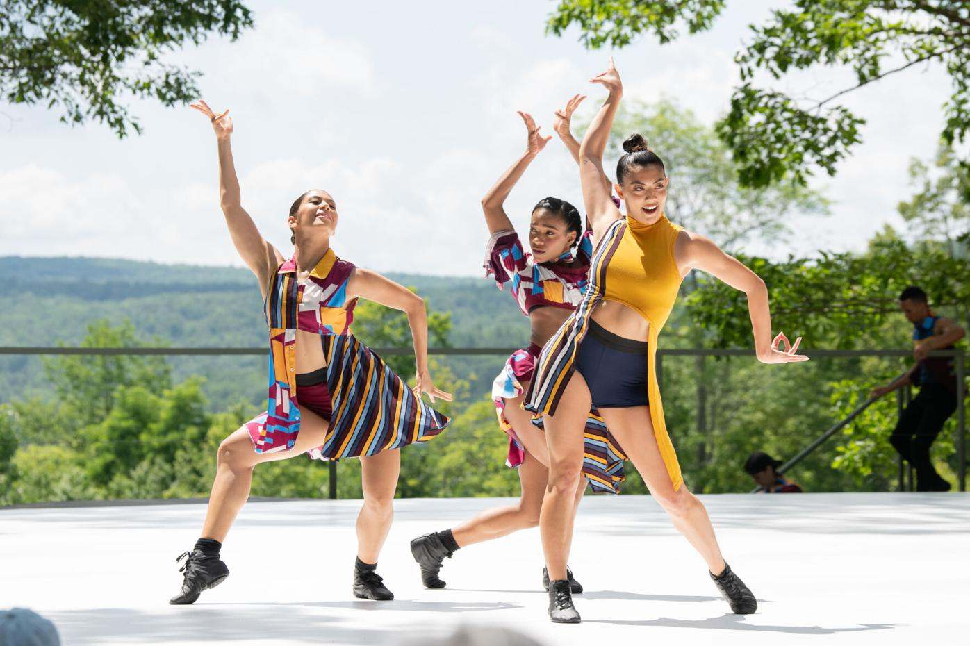 "Simone Cameresi, Dandara Veiga and Shelby Colona of Ballet Hispánico in ""Tiburones"""