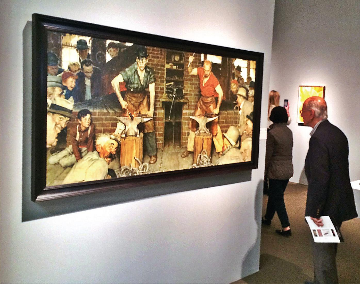 Rockwell paintings draw visitors to Sotheby's, elicit public displays of affection