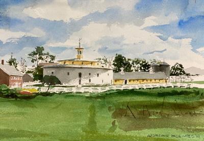 painting of Hancock Shaker Village