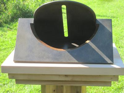 Crack of Dawn Sundial Back View