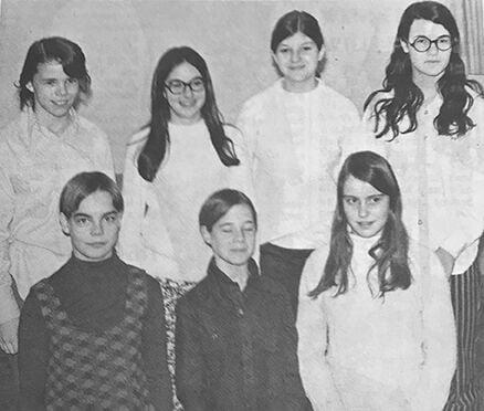 Barnabas girls volleyball 1970