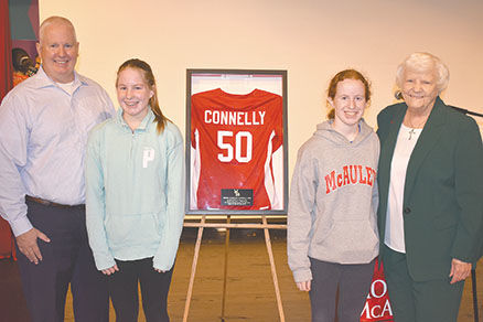 Sr. Rosemary Connelly, Joe, Colleen and Erin Connelly