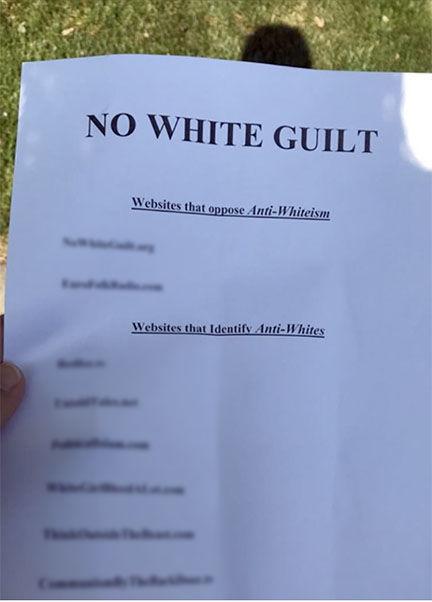 Racist fliers