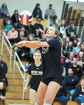 71b41cca7e Mother McAuley graduate Ryann DeJarld (2015) set two records this season  for the Notre Dame volleyball team