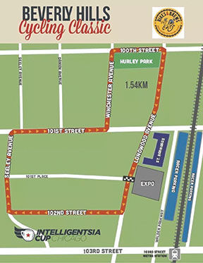 Beverly Hills Cycling Classic Map 2019