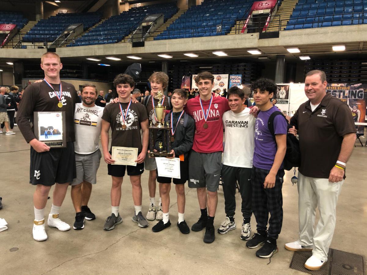 The Mt. Carmel wrestling team