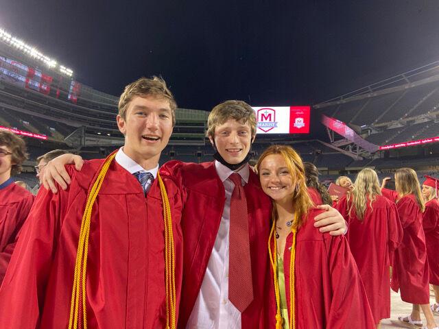 Marist Grad-Seamus Kelly (from left), Jack Looney, and Maggie Sullivan