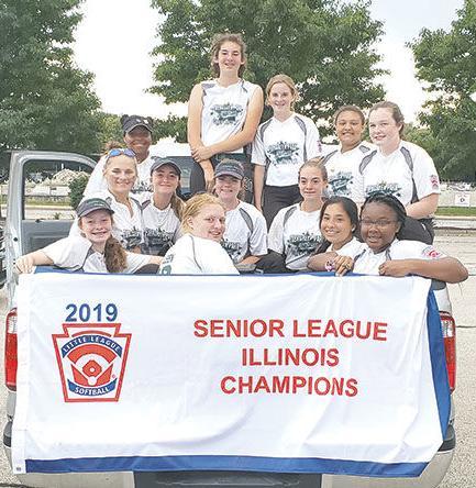 Evergreen Park Softball Senior League All-Star team