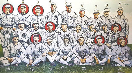 new arrival 1ff74 b1372 Artist to put 'Black Sox' on display at arts center ...