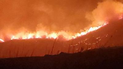 Steptoe Canyon Fire