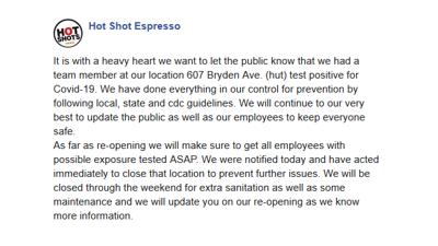 Hot Shot Espresso Post