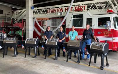 Donated Grills Lewiston Fire Department