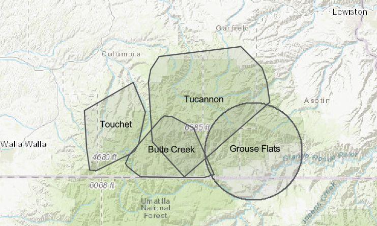 WA Wolf Pack area breakdown