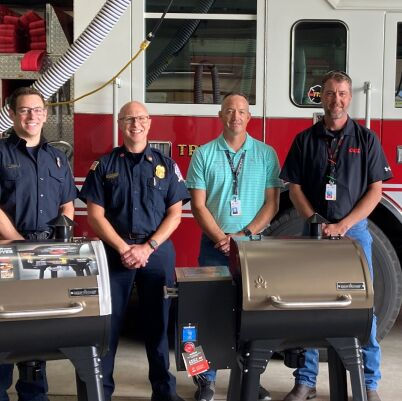 Donated Grills Lewiston Fire Department (1)