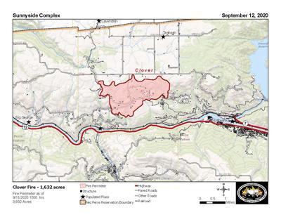 Clover Fire Map 912