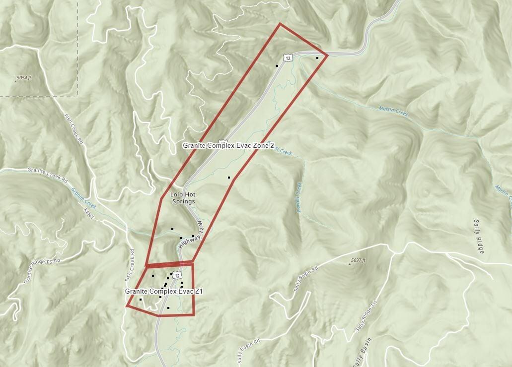 Granite Pass Complex Evacuation Warning