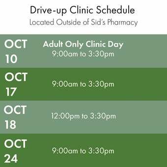 Drive Up Flu Clinic Schedule