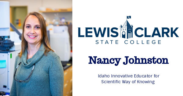 Lewis-Clark State's Nancy Johnston Receives Idaho Innovative Educator for Scientific Way of Knowing Honor