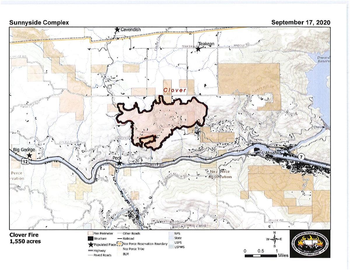 Clover Fire Map 9.17.2020