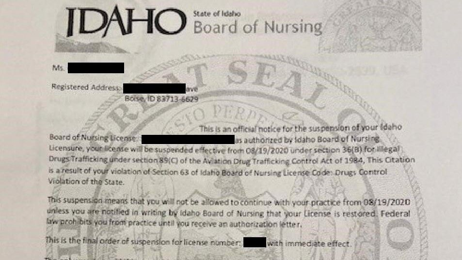 Scam Letter Targeting Idaho Nurses (2)