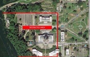 Restricted Area at Washington State Capitol For 2021 Legislative Session