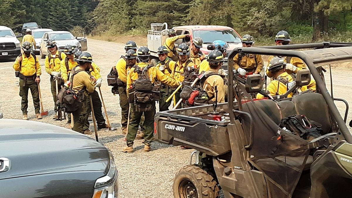 Firefighters at Snake River Complex