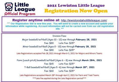 Lewiston Little League Registration