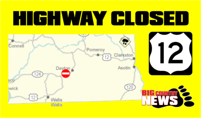US12 Closed by Waitsburg