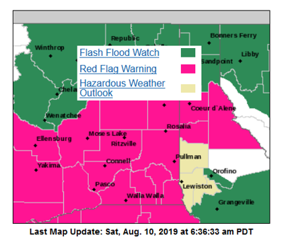 Warnings & Watches 8-10-19