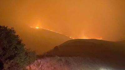 Fire off of Wawawai Road 9-12-20