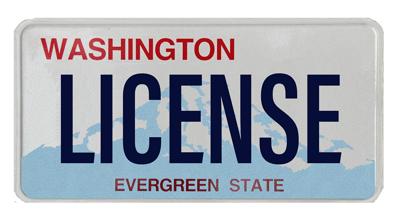 Washington License Plate