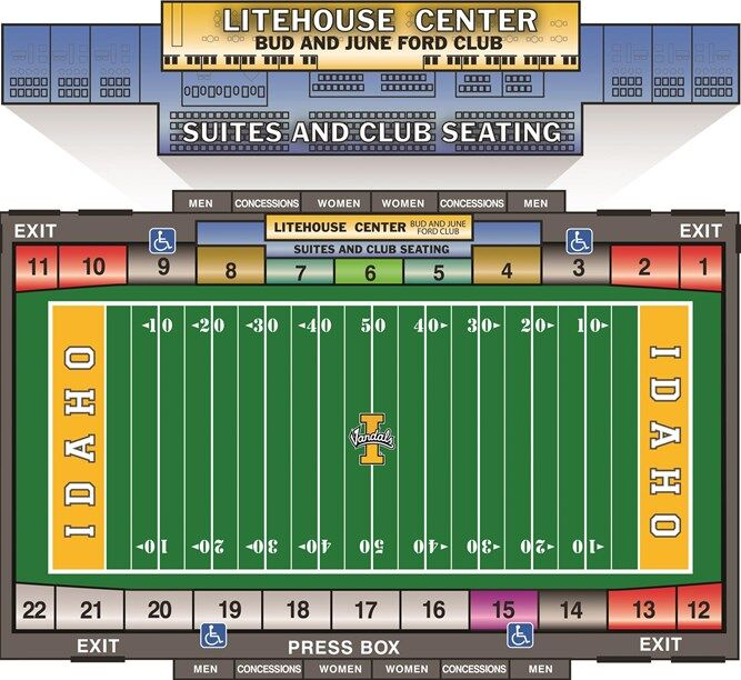 Kibbie Dome Seating Chart