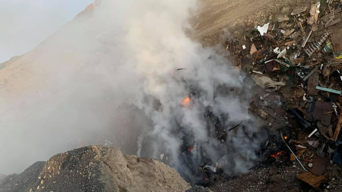 Valley Disposal Trash Fire 1129