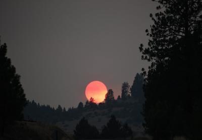 Fire Sunset, Grangeville