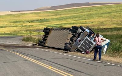 Semi Truck Rollover 7.22.21